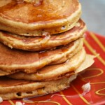 Gingerbread Pancakes with Candied Ginger