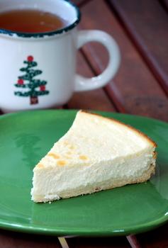 Eggnog Ricotta Cheesecake