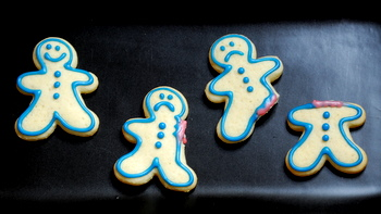 Pre-Bitten Gingerbread Men