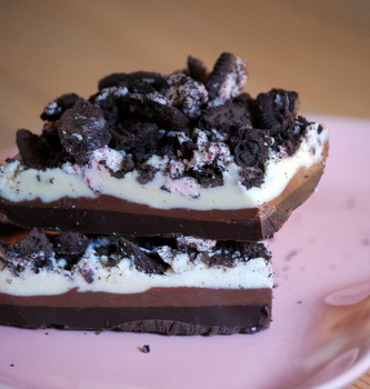 Triple Chocolate Cookies n' Cream Peppermint Bark