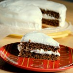 Gingerbread Layer Cake with Meyer Lemon Frosting