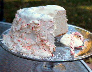 Candy Cane Angel Food Cake