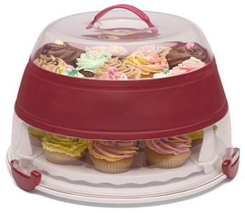 Collapsible Cupcake & Cake Carrier, open
