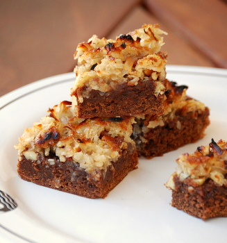 German Chocolate Cake Brownies