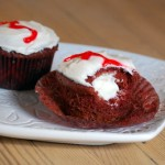 Cream-Filled Red Velvet Cupcakes