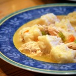 Chicken and Dumplings, closeup