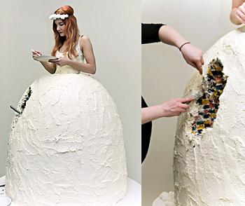 Wedding Dress Wedding Cake