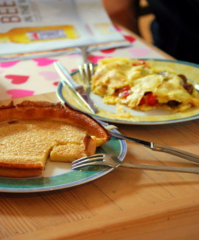Browned Butter Dutch Baby as served