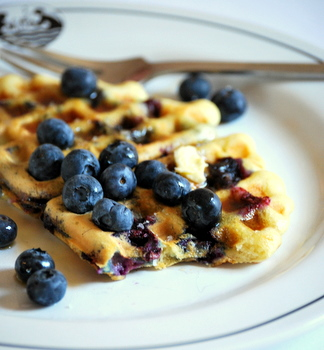 Fresh Blueberry Waffles
