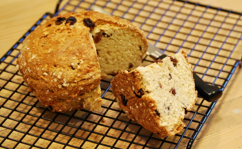 Oats and Honey Irish Soda Bread with Raisins