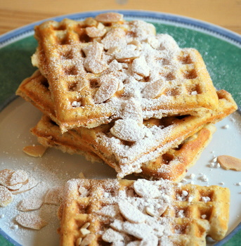 Toasted Almond Waffles