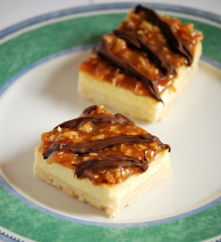 Homemade Girl Scout Cookies: Samoas Cheesecake Bars