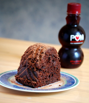 Chocolate Pomegranate Bundt Cake