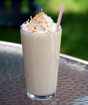 Tropical Pineapple Coconut Banana Smoothie