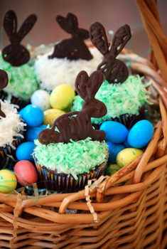 Chocolate Coconut Easter Cupcake