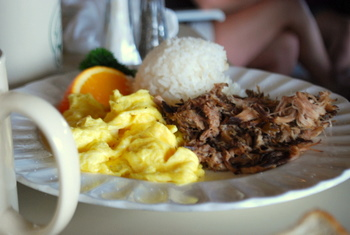 Eggs and kalua pork at Joe's