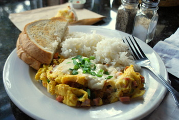 Kahili Breakfast at Kalaheo Cafe & Coffee Co