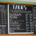 Menu board at Island Taco, Waimea, Kauai