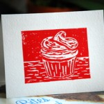 Handmade, limited edition cupcake card!
