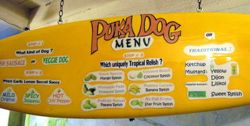 Puka Dog Menu