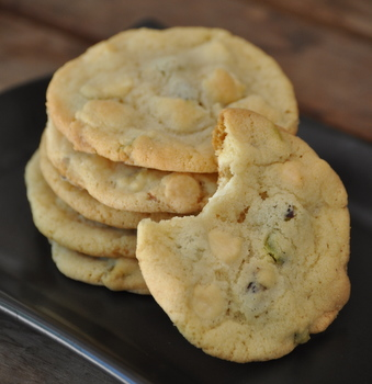 White Chocolate and Pistachio Sugar Cookies