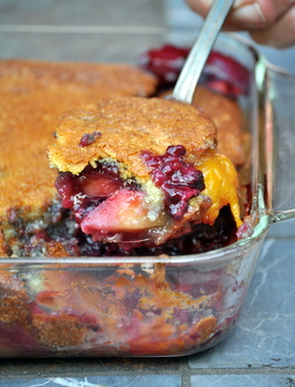 Mango and Blackberry Cobbler