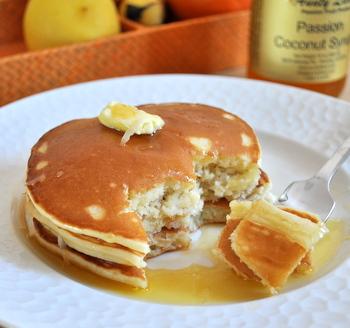 coconut passionfruit pancakes