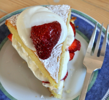 Olive Oil Strawberry Shortcake