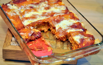 Chicken Enchilada tray