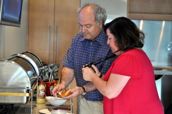 Erika and Her Husband doing some food photography
