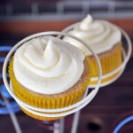 Lemon Frosted Cardamom Chai Cupcakes