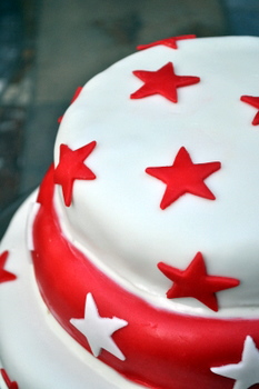 Star Spangled Cake, close up