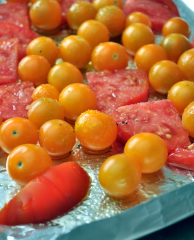 Fresh tomatoes before roasting