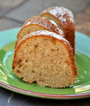 Chai Spiced Bundt Cake with Candied Ginger