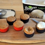 Root Beer Float Cupcakes, in progress