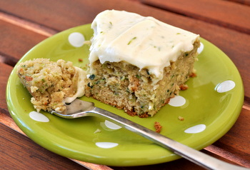 Zuccini Cake with Lime Cream Cheese Frosting