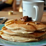 White Whole Wheat Banana Nut Pancakes