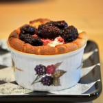 Ricotta Souffle with Blackberries