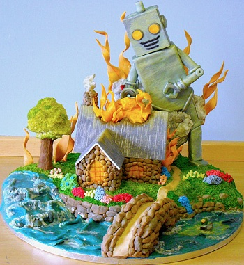 Firelight Cottage 3D Threadcakes winner
