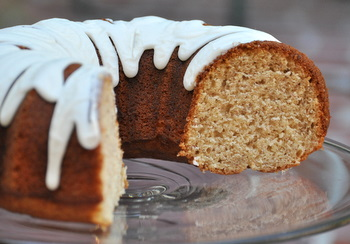 Banana Rum Bundt, interior