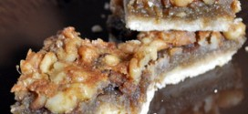 Walnut Maple Bars with Shortbread Crust