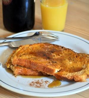 Pumpkin Pie French Toast | Baking Bites