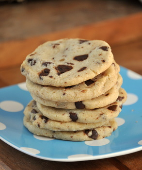 Dark Chocolate Chip Shortbread Cookies - Baking Bites