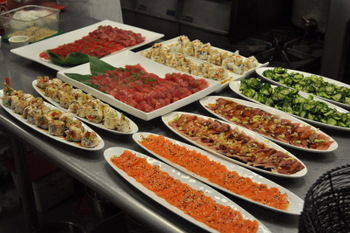 The Kitchen's Sushi Platters, ready to be served