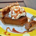 Salted Caramel Pumpkin Pie, bitten