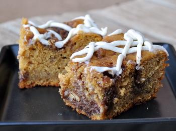 Pumpkin Cinnamon Bun Cake
