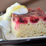 Meyer Lemon Cranberry Upside Down Cake