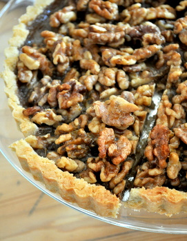 Citrus Walnut Tart