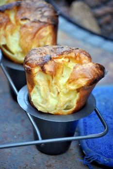 Huge yorkshire puddings, up close