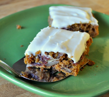 Pumpkin Cranberry Swirl Bars
